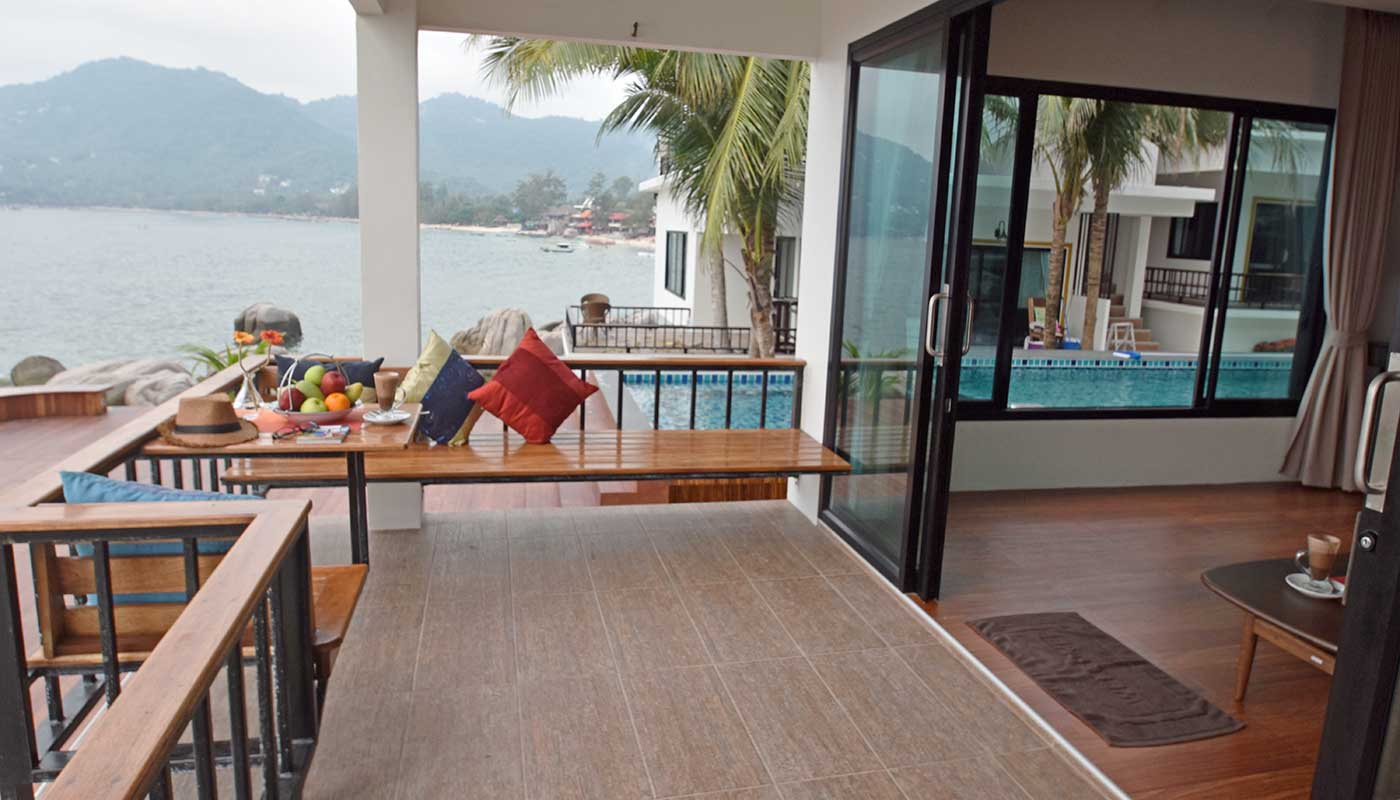 Deluxe sea view room on Koh Tao